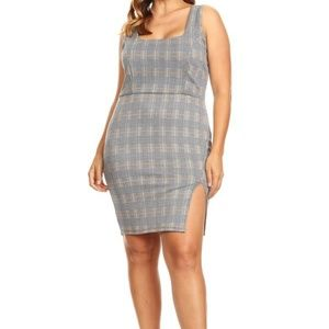 Dresses & Skirts - Plaid, sleeveless short dress in a bodycon fit